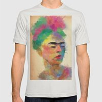 frida kahlo Mens Fitted Tee Silver SMALL