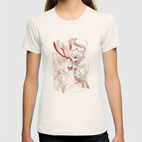 Rose De Charme Womens Fitted Tee Natural SMALL