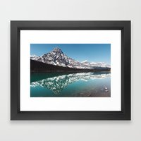 Reflection In The Rockie… Framed Art Print