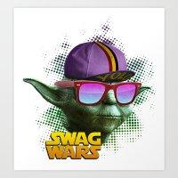 Yoda Swag Art Print