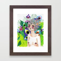 She Sees In All Directions Framed Art Print