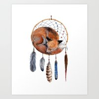 Fox Dreamcatcher Art Print