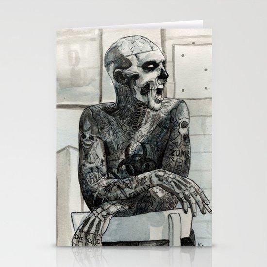 Zombie Boy Stationery Card