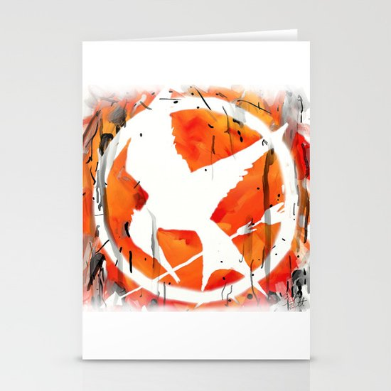 The Mockingjay Stationery Card