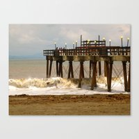 Canvas Print featuring Sea Side II by KeCuddihee