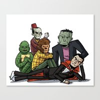 The Universal Monster Cl… Canvas Print