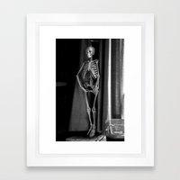 The Skeleton by the Printer Framed Art Print