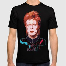 Bowie (Words) SMALL Black Mens Fitted Tee