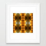 Amber Light Kaleidoscope Framed Art Print