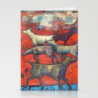 Street Dogs. Stationery Cards