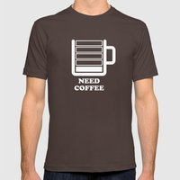 Need Coffee Mens Fitted Tee Brown SMALL