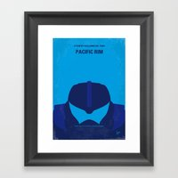 No306 My Pacific Rim minimal movie poster Framed Art Print
