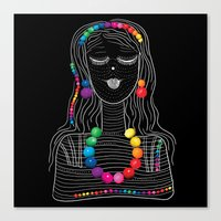 Girl-candy Canvas Print