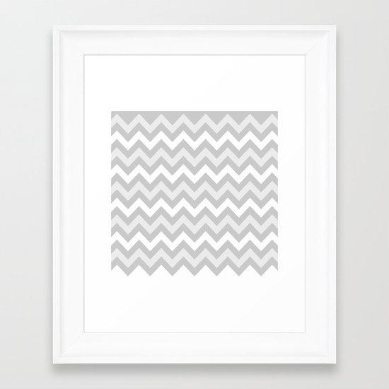 chevron #9 Framed Art Print