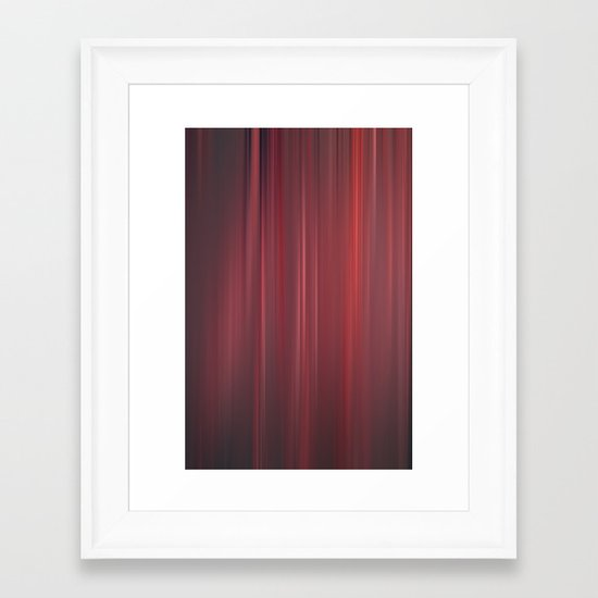 red strings Framed Art Print