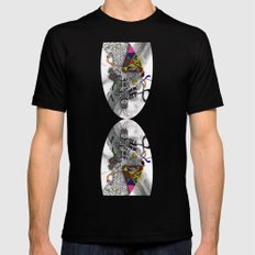 Psychoactive Bear 7 Black SMALL Mens Fitted Tee