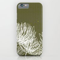 Olive Doodle Floral by Friztin iPhone 6 Slim Case