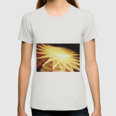 Filament Star Womens Fitted Tee Silver SMALL
