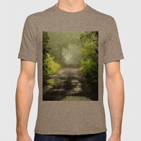 Misty Woodland Lane II Mens Fitted Tee Tri-Coffee SMALL