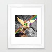 Space Art Unicorn Framed Art Print