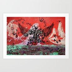 Burn in Hell. Art Print