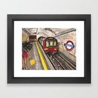 Down in a Tube Station at Midnight Framed Art Print