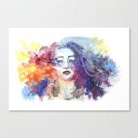 Canvas Print featuring Ultraviolence by Jordana Clarke