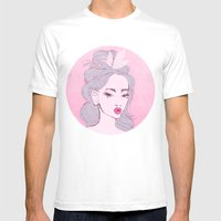 selfie girl_9 Mens Fitted Tee White SMALL