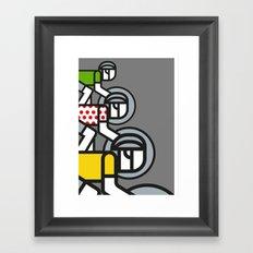 Peloton Tour De France Framed Art Print