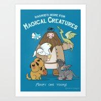 Hagrid's Home For Magica… Art Print