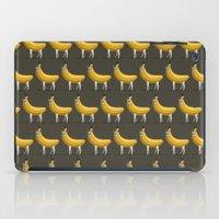 Bananas About Llamas Pattern iPad Case