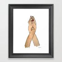 Lovely Hands Framed Art Print