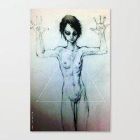 Presentation (the Girl o2) Canvas Print