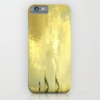 iPhone & iPod Case featuring Water Walk Pure Gold by monjii art