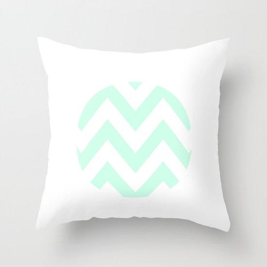 WHITE CIRCLE CHEVRON Throw Pillow