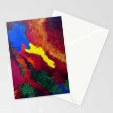 Autumn Abstract Painting Stationery Cards