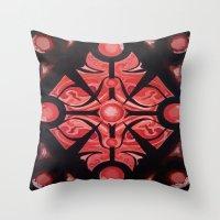 Pattern Red Black Throw Pillow
