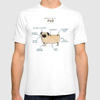 Anatomy of a Pug Mens Fitted Tee White SMALL