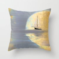 Lost In Moonlight Throw Pillow