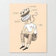 Hot dog bro Canvas Print