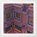 Sherbet Chateau Art Print