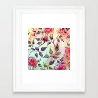 Roses And Splash 2 Framed Art Print