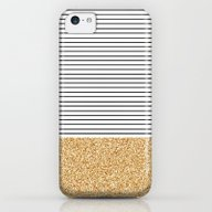 Minimal Gold Glitter Str… iPhone 5c Slim Case