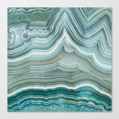Agate Crystal Blue Canvas Print