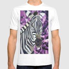 Zebra! SMALL White Mens Fitted Tee