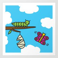 Caterpillar  Art Print