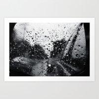 'Side View Rain' Art Print