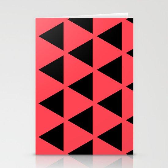 Sleyer Black on Pink Pattern Stationery Card