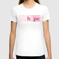 A Heart of Hope - Pink Womens Fitted Tee White SMALL