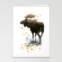 Moose Reflection Stationery Cards